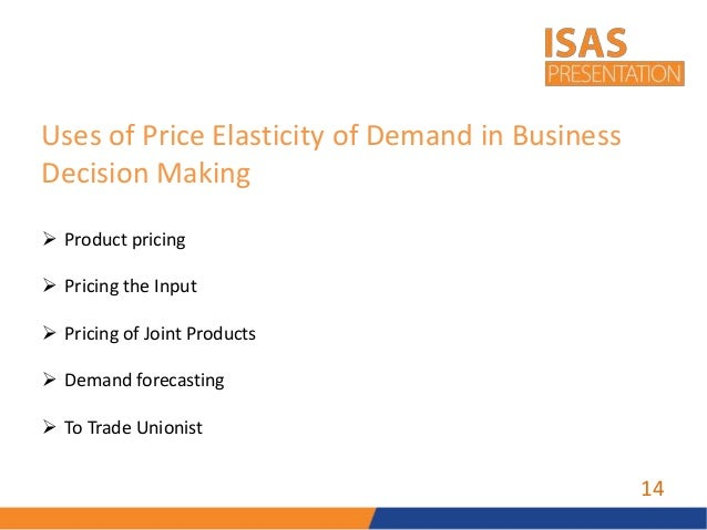 research on price elasticity of demand Price elasticity of demand describes how changes in the cost of a product or service affect a company's revenue insights why we splurge when times are good .