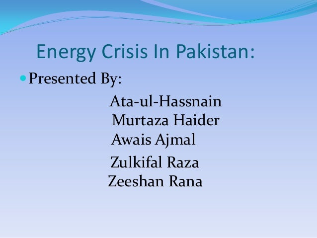 an essay on energy crisis in pakistan