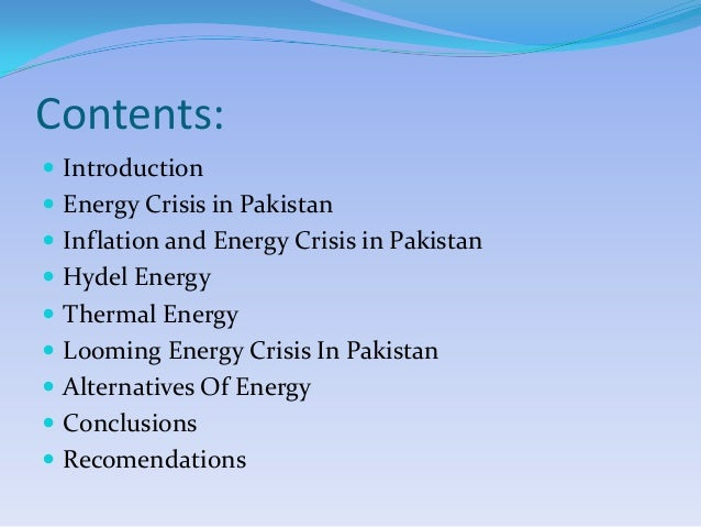 essay on energy crisis in the world Oil shortage, renewable energy essays - the world's oil crisis.