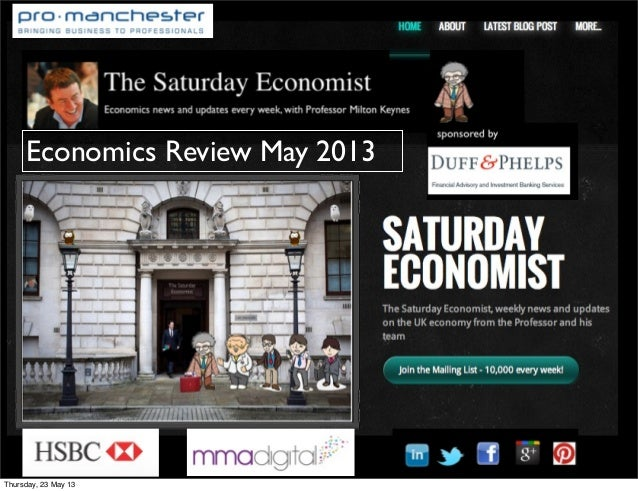 Economics Review May 2013Thursday, 23 May 13