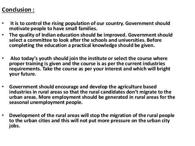 Conclusion about unemployment essays