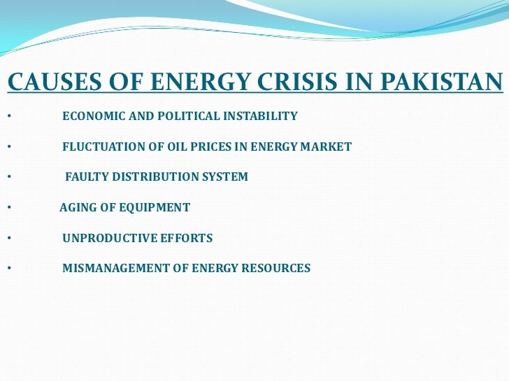 energy crisis and pakistan