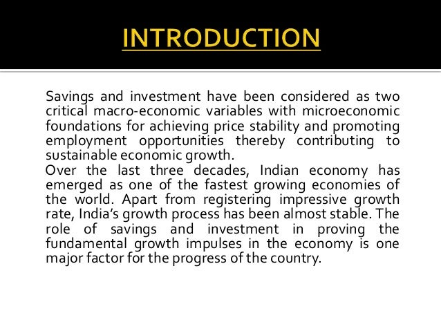 Trends in savings and investments in india endowment investment definition