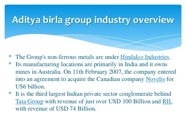 Idea aditya birla group mission statement
