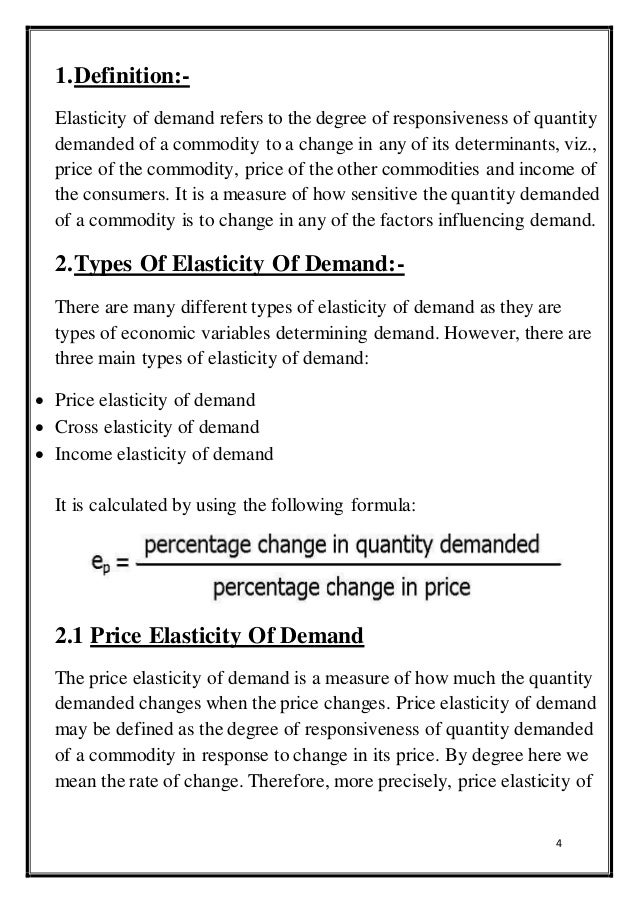 the cross elasticity of demand is a measure of how