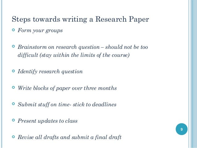Standard form of research paper