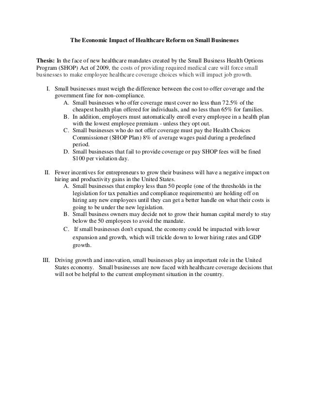 universal health care research paper outline