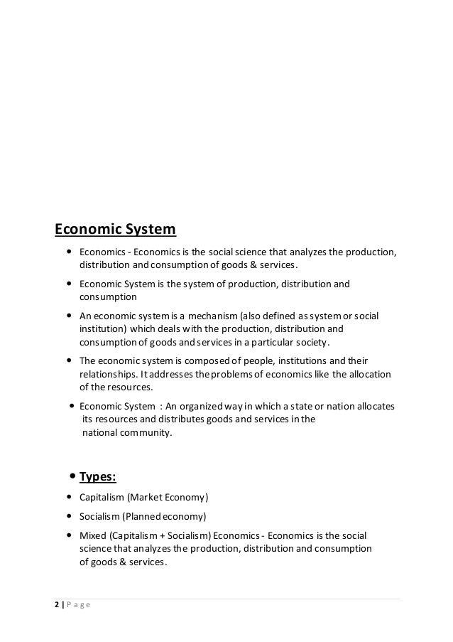 Economics Systempdf Bymilan Kagarana
