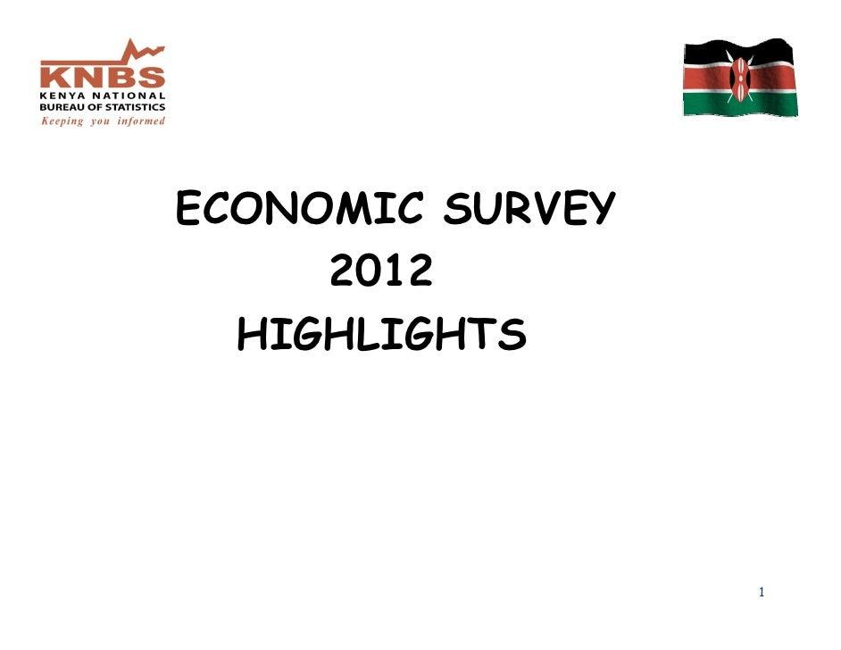 ECONOMIC SURVEY     2012  HIGHLIGHTS                  1