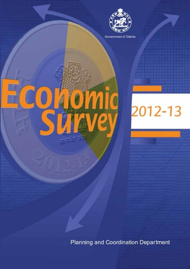 Government of Odisha  Economic Survey 2012-13 Planning and Coordination Department