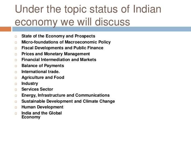 Economic Survey Of India