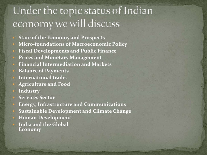 Economic Survey Of India Ppt