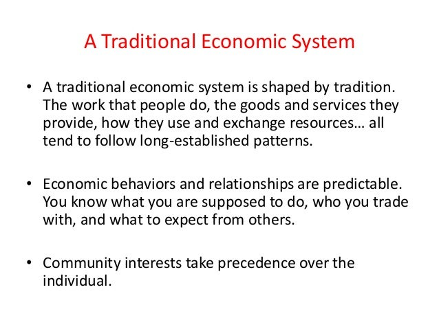 Economic system – Economic Systems Worksheet