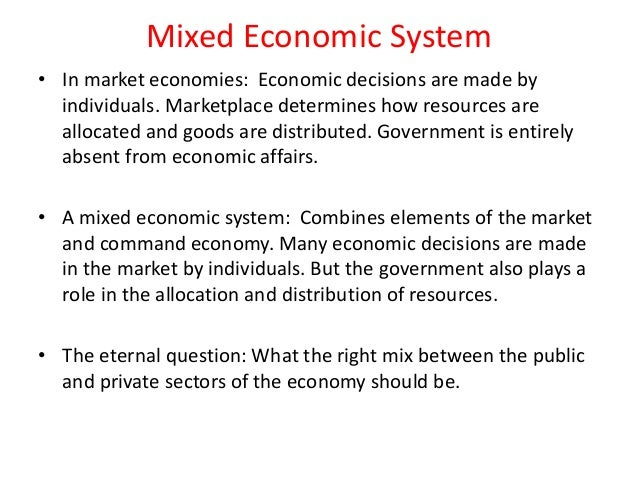 a mixed economy the role of