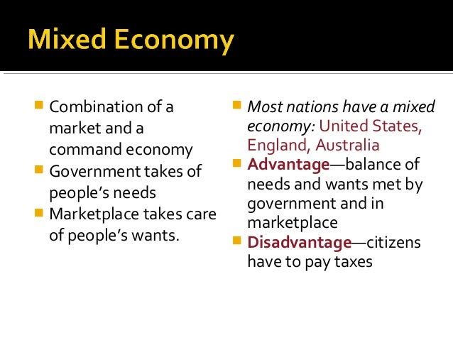 what is the difference between a market economy and a mixed economy?