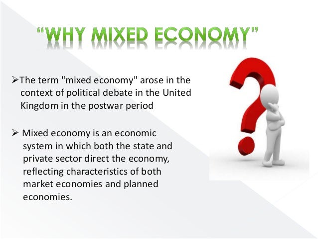 difference between mixed economy and market economy