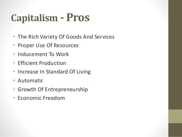 pros of capitalism
