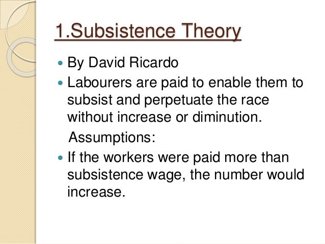 Economic theories of wages Slide 3