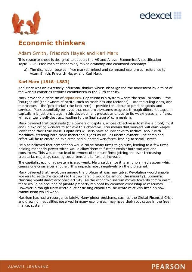 Karl Marx vs  Adam Smith   Consumption Karl Marx vs  Adam Smith Primary Source Analysis