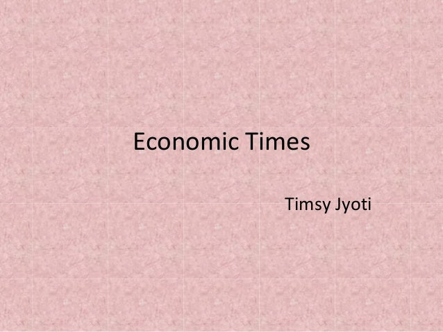 Economic Times Timsy Jyoti