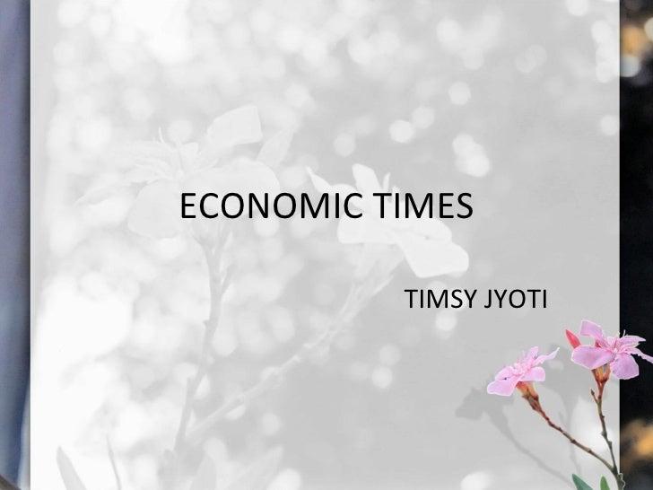 ECONOMIC TIMES TIMSY JYOTI