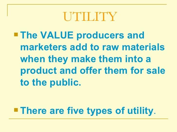 Economic utilities
