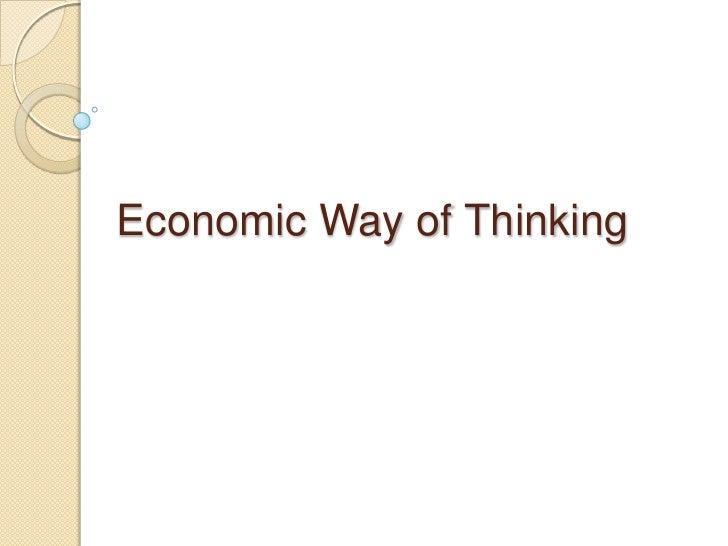 Economic Way of Thinking<br />