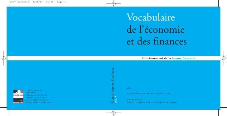 couv economie      9/06/06           11:19      Page 1                                                                    ...