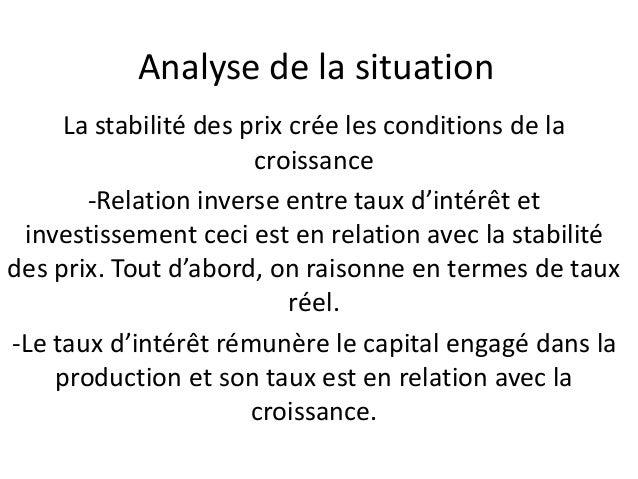 que serait une politique monétaire efficace ? • Le choix de la politique monétaire dépend de l'orientation de la politique...
