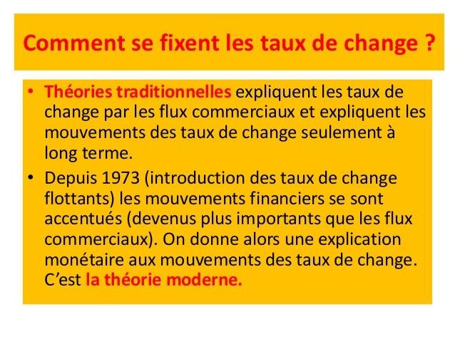 Comment se fixent les taux de change ? Théorie de la parité du pouvoir d'achat (PPA) Sous forme relative • Le changement d...