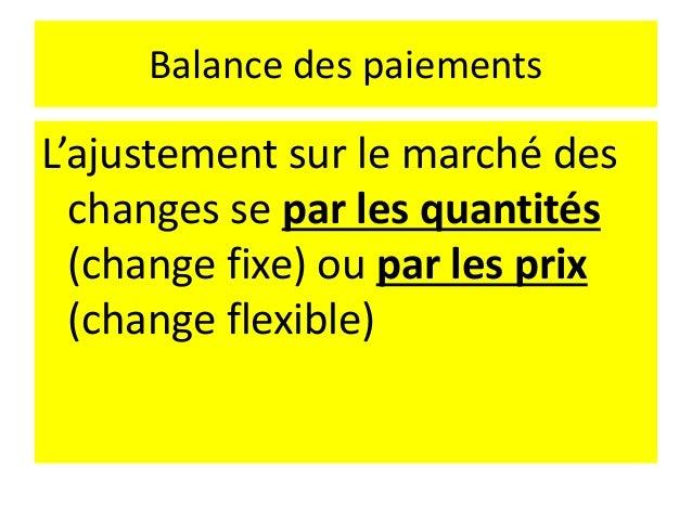 Approche monétaire de la détermination des taux de change Si un pays connaît un excédent, la demande de sa devise sera sup...