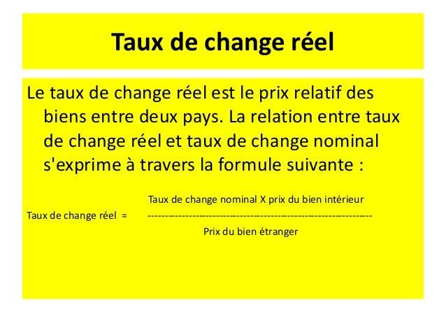 Exemple En 1990 1$ = 5 Frs Un 1m de tissu coton vaut - 4$ au EU et - 20 Frs en France Si tous les biens présentent le même...