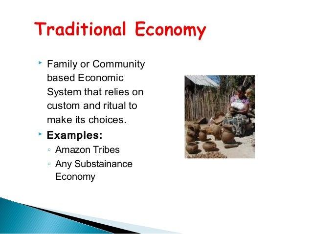 economy type and characteristics