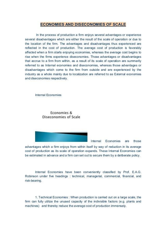 internal economies