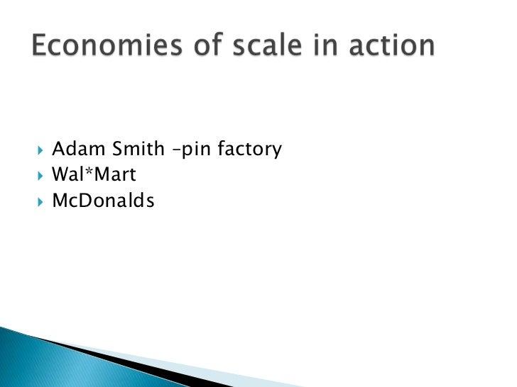 Economies of scale and Diseconomies?