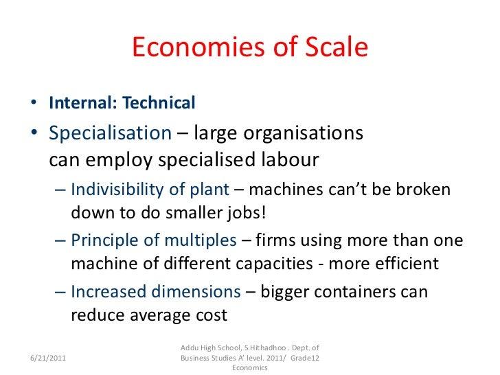 efficient scale economics