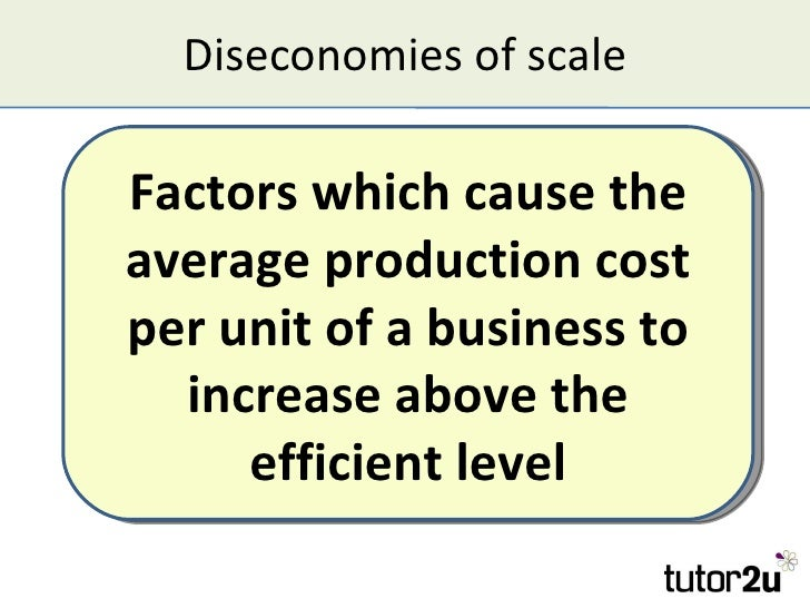 factors that cause economies of scale