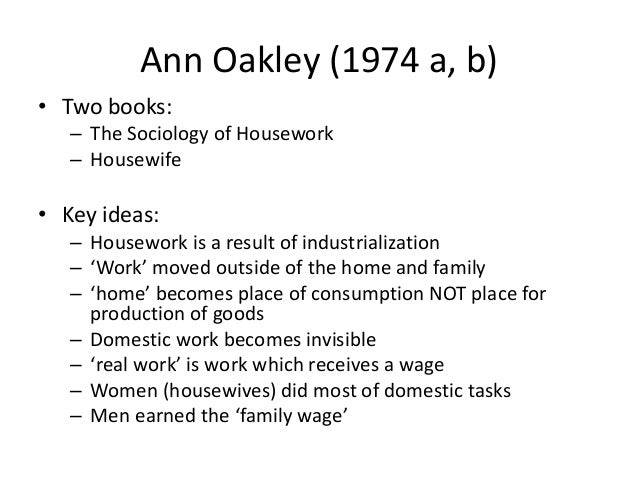 ann oakley housewife