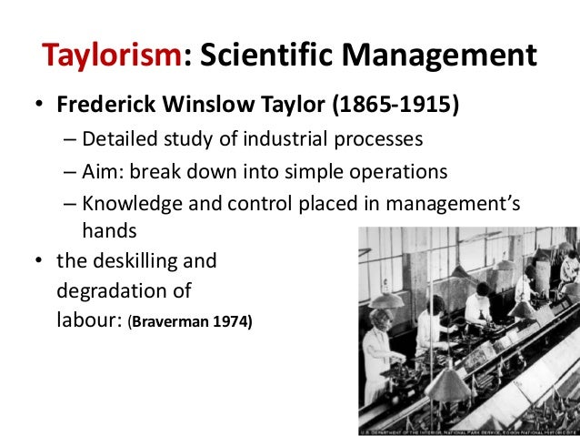 fordism vs taylorism Taylorism: taylorism, system of scientific management advocated by fred w taylor in taylor's view, the task of factory management was to determine the best way.