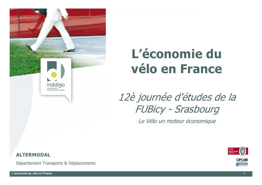 L'économie du                                             vélo en France                                            12è jo...