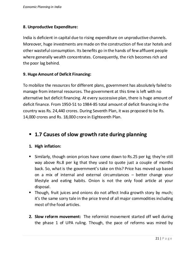 economic planning in india 6 conclusions and recommendations  tourism is one of the leading economic activities in the adirondack park and yet little research, planning or public policy has.
