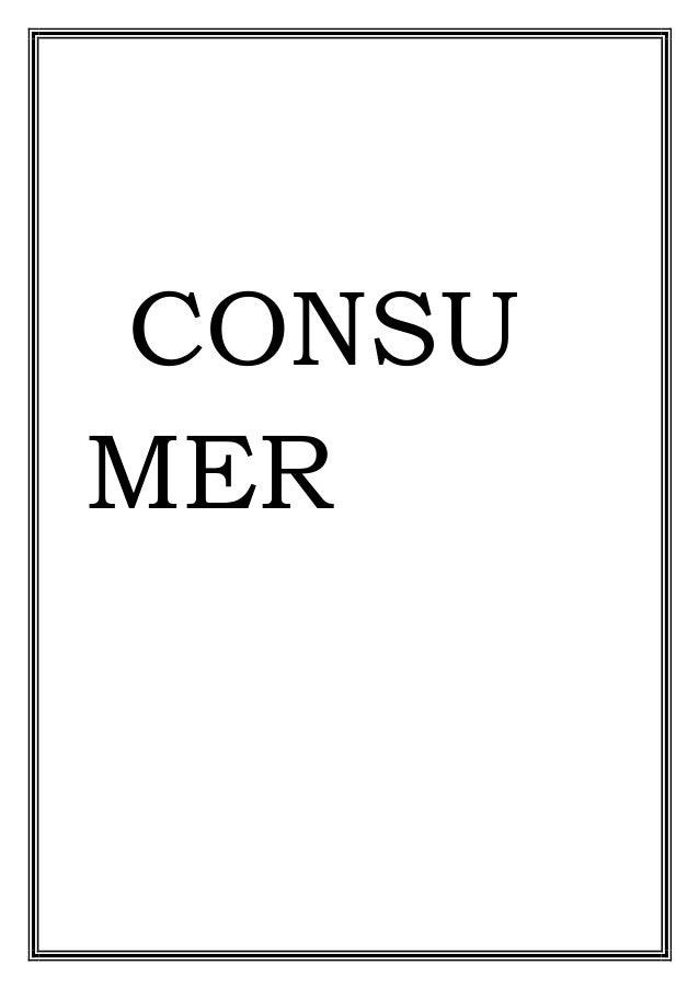 economics project consumer awareness