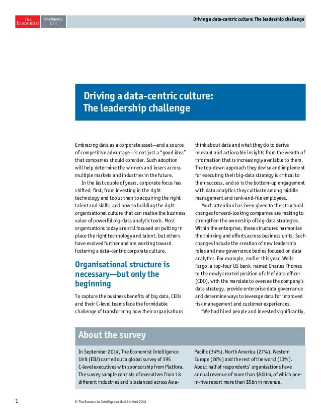 Driving A Data-Centric Culture: The Leadership Challenge Slide 2