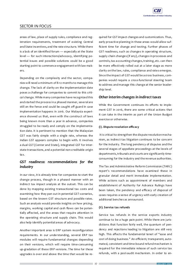 ECONOMY MATTERS 30 FOCUS OF THE MONTHCII VIEWPOINT Select CII's Budget Expectations I n the last budget the FM had rightly...