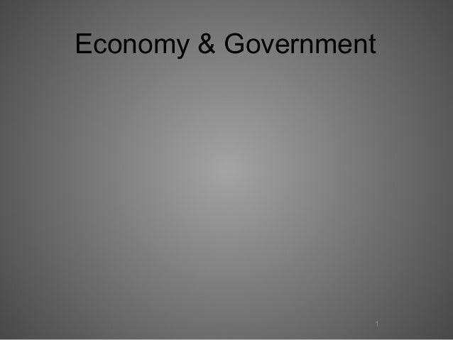 Economy & Government  1