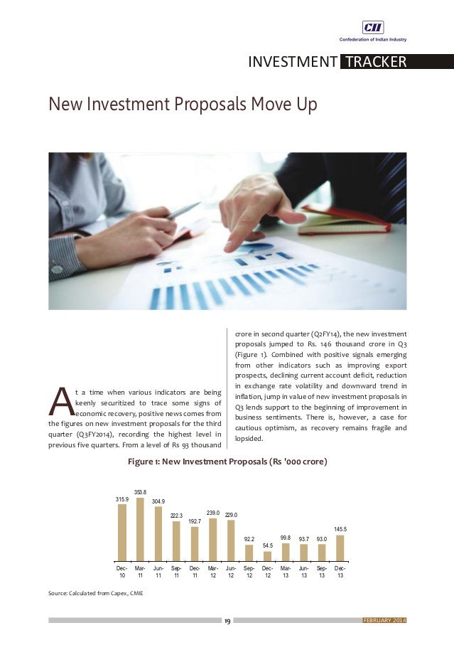 Consequently, the share of private sector in total new investment proposals, which usually runs higher than the share of g...