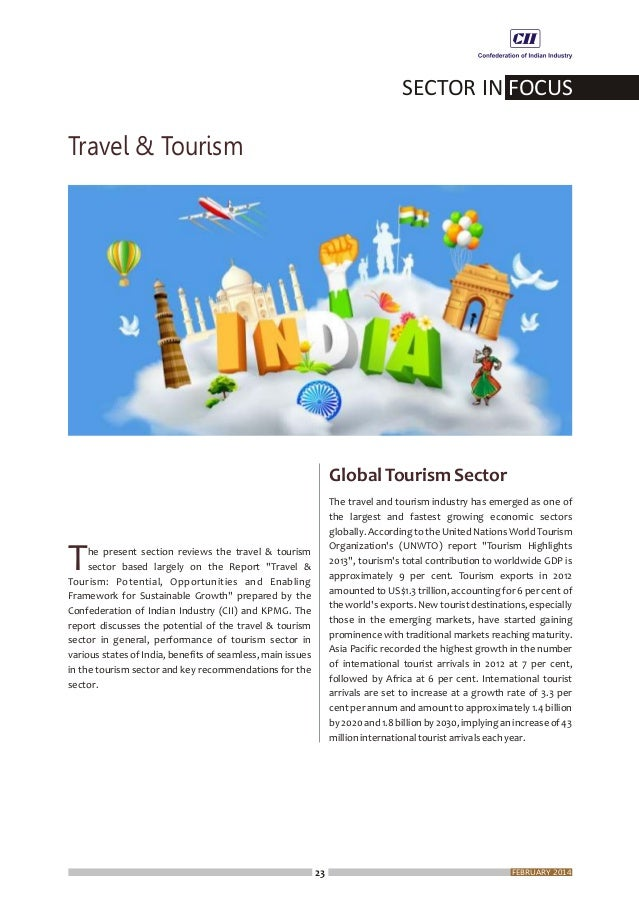 25 CAGRof12percentfromtheestimatedRs2,222billionin 4 the year 2013 to Rs 6,818 billion by 2023 . The travel and tourism se...