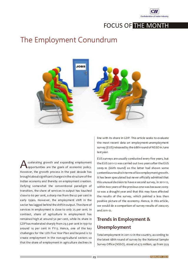 FOCUS OF THE MONTH 31 FEBRUARY 2014 SectoralSharesinEmployment Comparing the results to the previous two surveys, it is ap...
