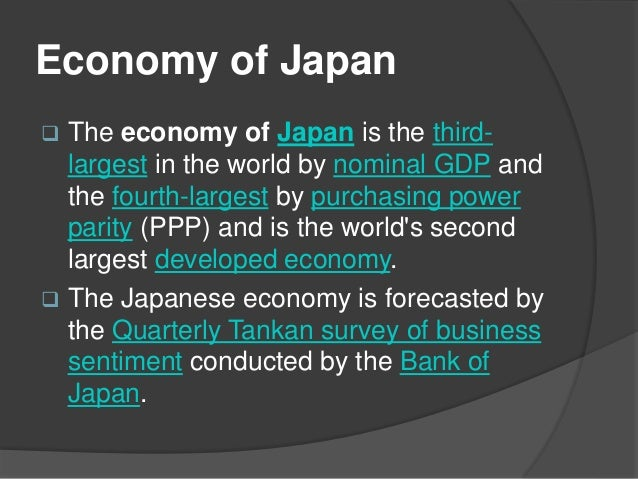 the economy of japan The japanese economy and itsstructural reform speech by haruhiko kuroda,  vice minister of finance, japan japan-us international finance symposium.