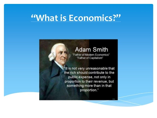 """What is Economics?"""